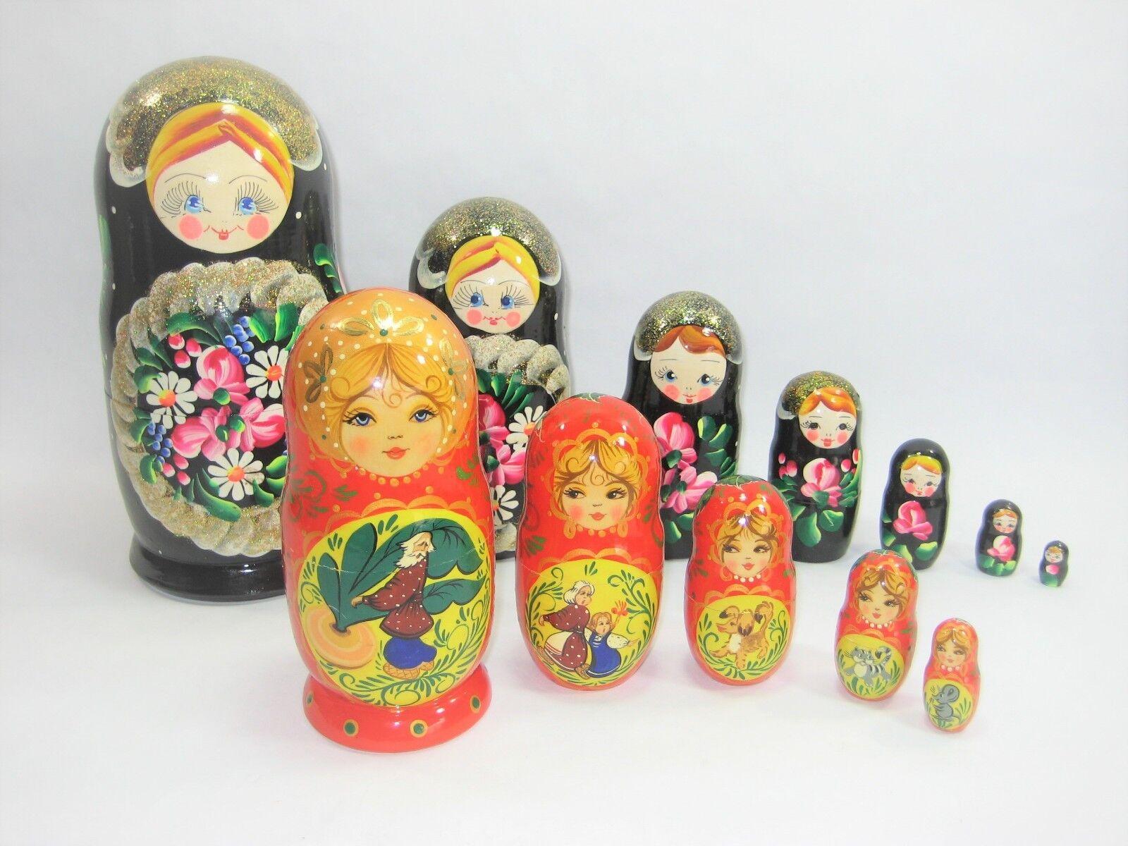Russian Nesting bambolas 12 Pcs 2 Sets He Painted  Makapoba He Painted, Wood  buon prezzo