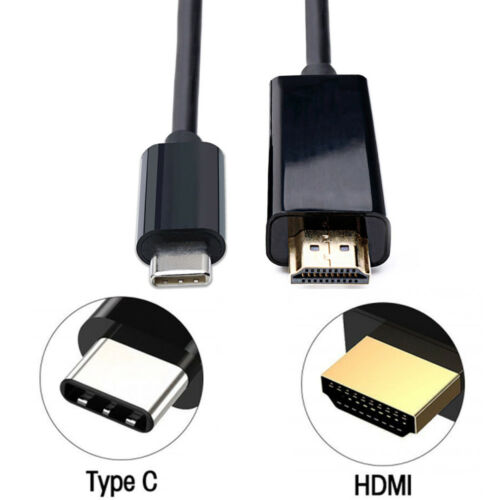 Thunderbolt 3 Compatible For Tablet Type C USB-C to HDMI Cable 6FT USB 3.1