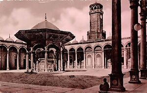 BF35878 cairo courtyard of mohamed aly mosque  egypt front/back scan