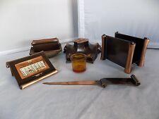 Kronheimer Oldenbusch 5 Piece Desk Set Perpetual Calendar Ink Blotter Feb-21-28