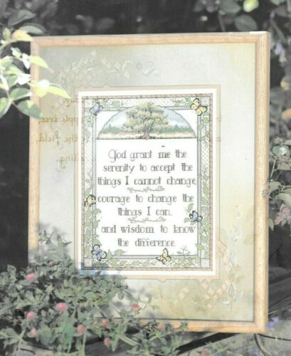 Pattern Cross Stitch Serenity Prayer Sampler NEW