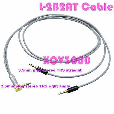 3.5mm plug  jack 1F2M 1M2F 90°  Audio Aux Stereo DIY splitter Cable Cord L-2B2AT