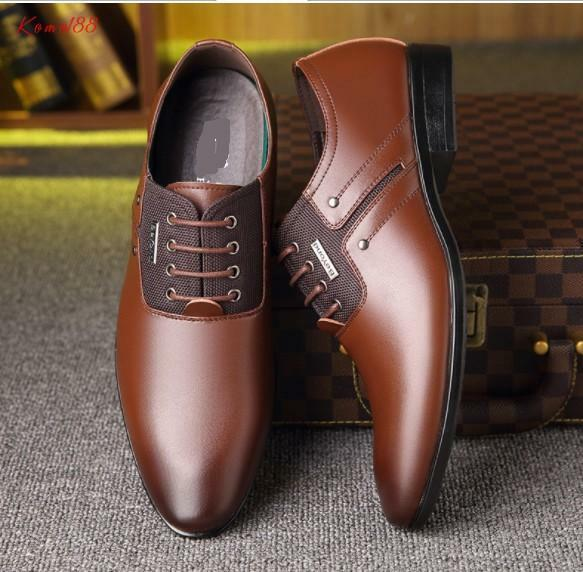 Hot Men's point toe lace up business formal casual wedding Dress shoes