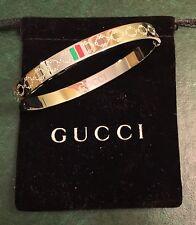 Gucci Women's Love Bangle White Gold Size 19 cm Brand New