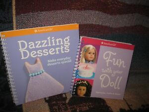 American-Girl-Fun-with-Your-Doll-amp-Dazzling-Desserts-lot-of-two-Christmas-treats