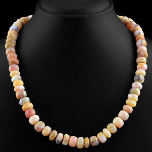 GENUINE-373-00-CTS-EARTH-MINED-RICH-PINK-AUSTRALIAN-OPAL-UNHEATED-BEADS-NECKLACE