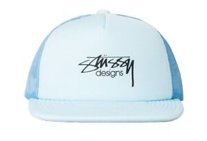 b1bdcfc262a Image is loading Stussy-SMOOTH-STOCK-TRUCKER-Blue-Black-Screenprint-Logo-