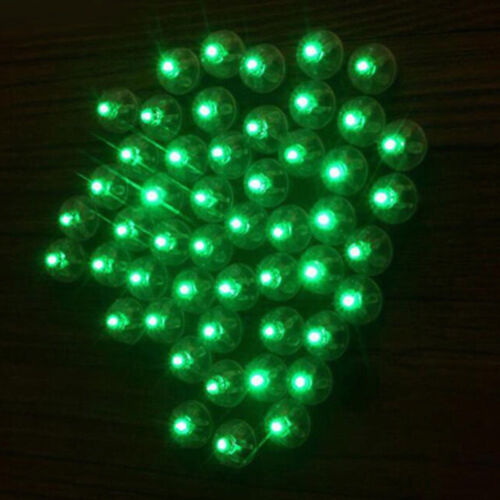 2//10Pcs LED Balloons Light Up Party Decor Wedding Birthday Multi-color Selected