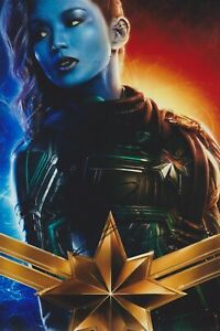 Gemma-Chan-Signed-Captain-Marvel-12x8-Photo-AFTAL