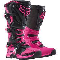 Fox Racing Boys Girls Youth Kids Comp 5 Pink Mx Motocross Boots Riding Racing