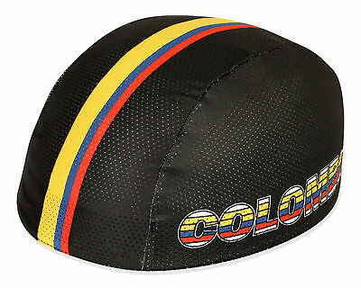 Adaptable Colombia National Team Coolmax Cycling Helmet Liner ** Last Ones ! Para Ganar Un CáLido Elogio De Los Clientes