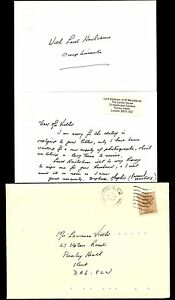 GB QE2 HOUSE of LORDS ENVELOPE 1988 LORD HAILSHAM to VIDLER + EMBOSSED CARDS