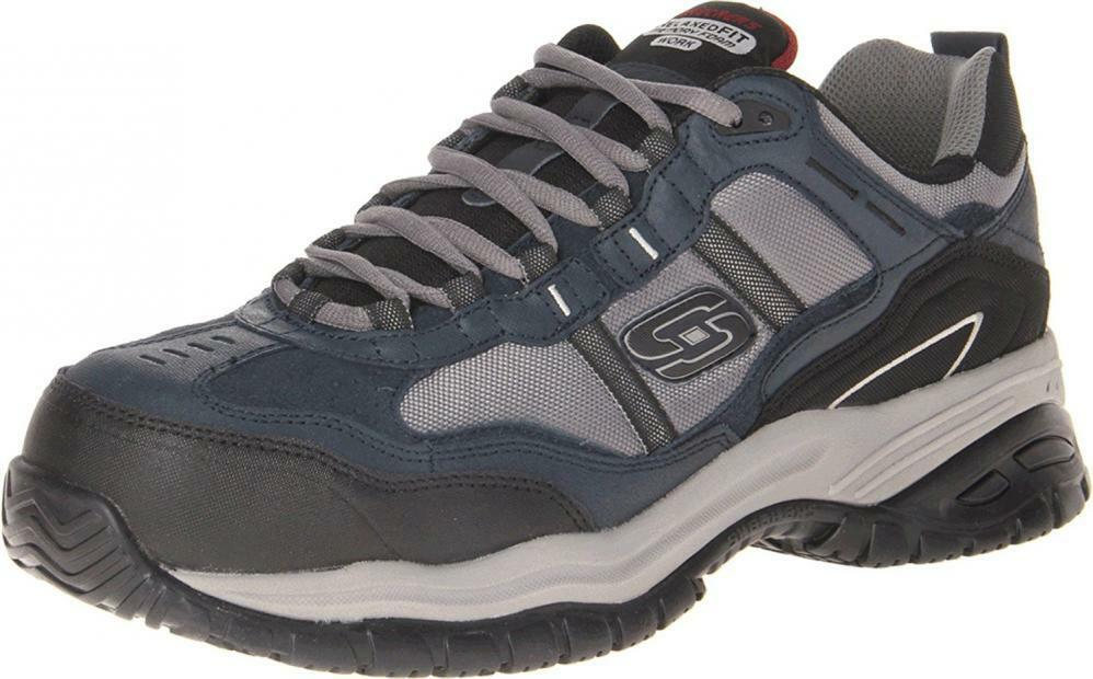 Skechers Men's Work Relaxed Fit Soft Stride Grinnel Comp, Navy/Gray - 10.5... Casual wild