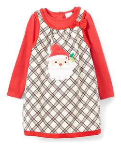 42d2fa81765 Details about NANNETTE NWT GIRL 24 Months PRETTY Red & Ivory Plaid Santa  Apron Dress Set 24M