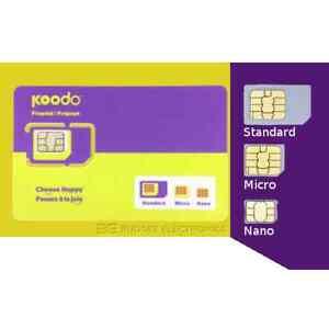 Koodo-Multi-Sim-Card-Nano-Micro-Regular-15-AIR-TIME-CREDIT-included