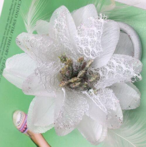 1x oder 2x Kleine HAARBLUME HAARGUMMI Ansteckblume Zopfband Brosche Ø 7 cm