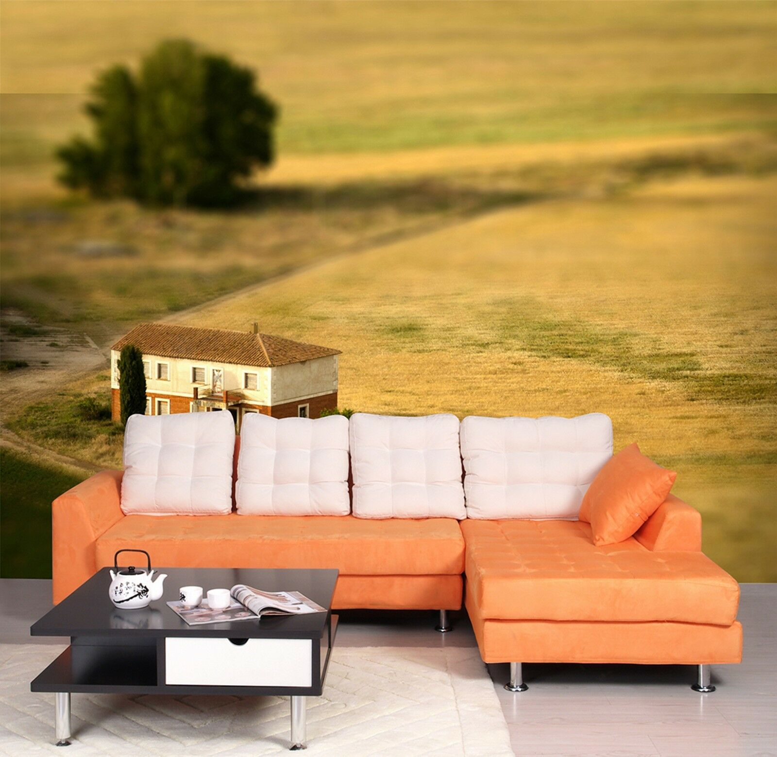 3D Paddy field house 335 Wall Paper Wall Print Decal Wall Indoor Murals Wall US