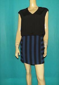 robe SANDRO noire et bleu Taille: 2 TRES BON ETAT
