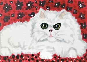 Persian-Lounge-Cat-ACEO-Original-Miniature-Art-Painting-Vintage-Style-by-KSams