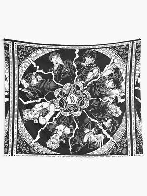 JJBA Jojo Bizarre Anime Manga Wall Tapestry Jojo Dynasty Wall Tapestry