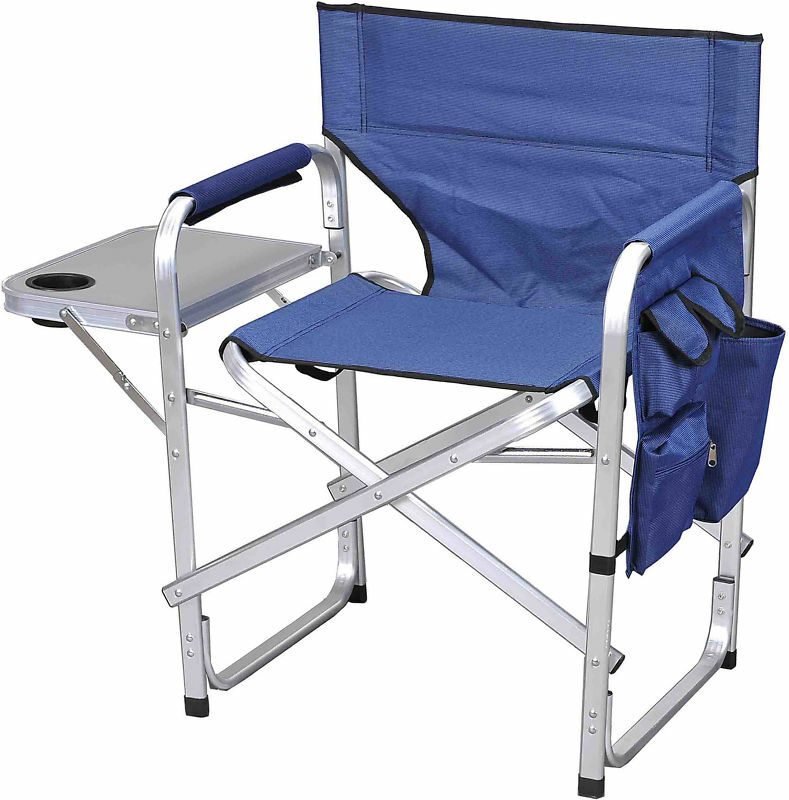 Camping  Folding  Sport Director Chair w Table 1204bluee  professional integrated online shopping mall