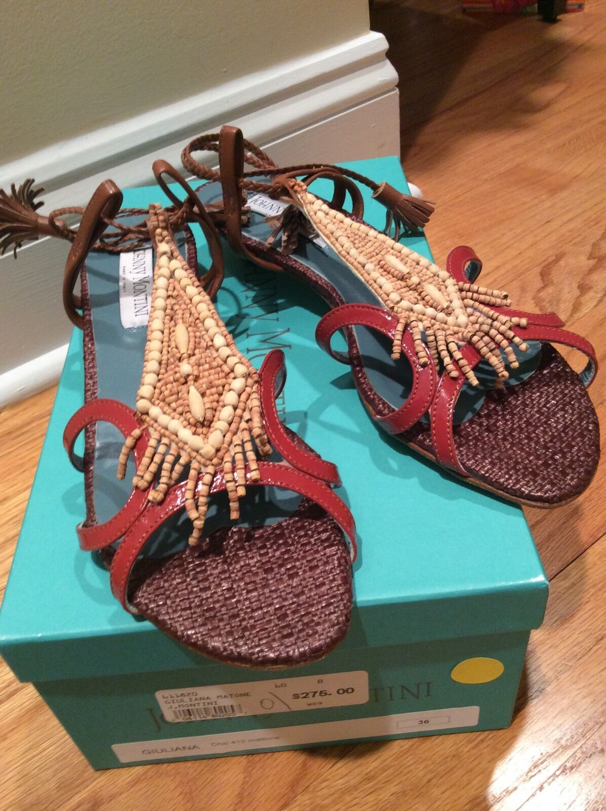 Brand New Johnny Montini Dimensione 6 36 Sandal