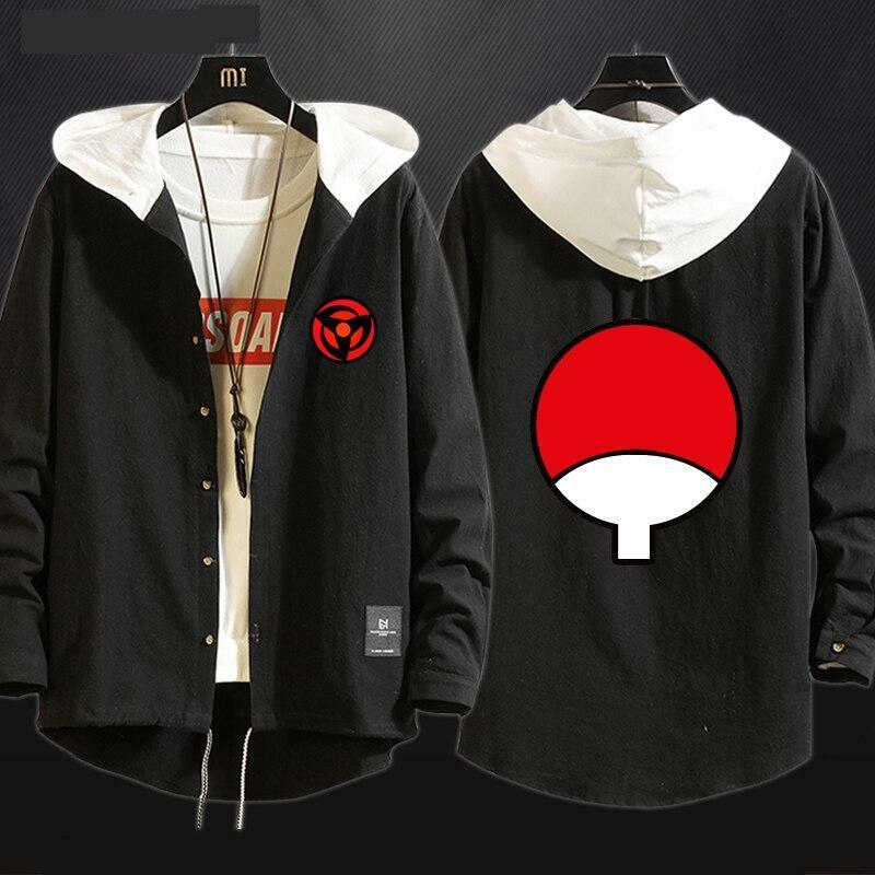 Anime Kakashi Uchiha Sasuke Akatsuki Cosplay Sharingan Jacket Hoodies Sweatshirt