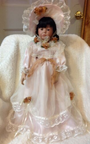"""Bailey in Vintage Dress by Donna Rubert Porcelain Doll 20 inch"