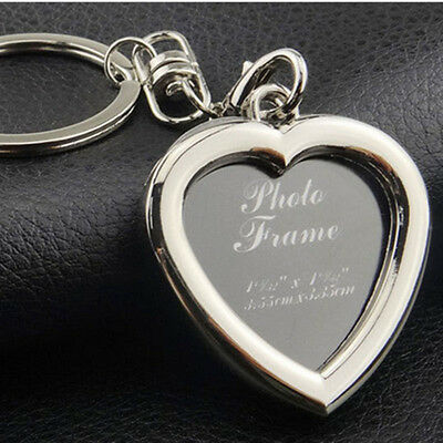 Metal Alloy Insert Photo Picture Frame Keyring Keychain Keyfob Love Craft Gift