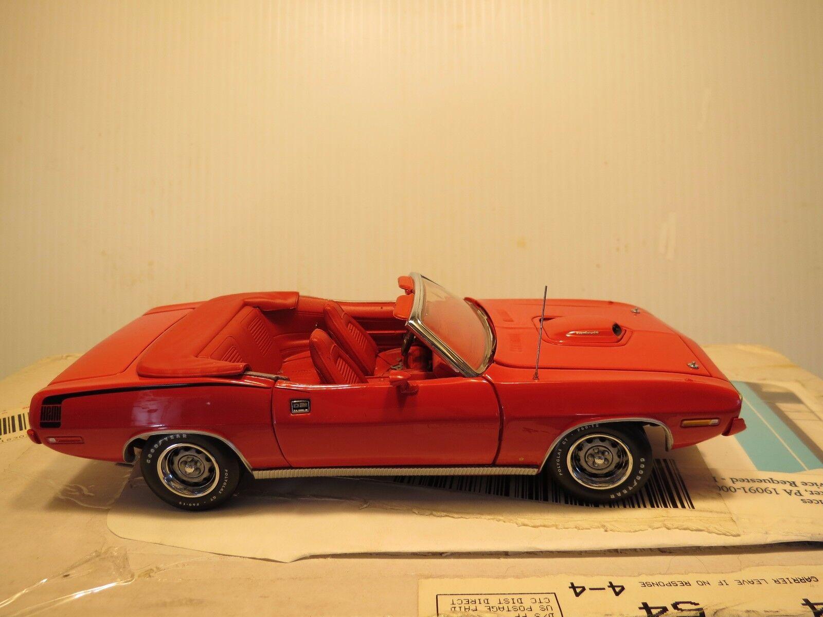 Franklin Nuovo di zecca 1970 PLYMOUTH HEMICUDA rossa decappottabile, Scala 1 24, sigillato in fabbrica