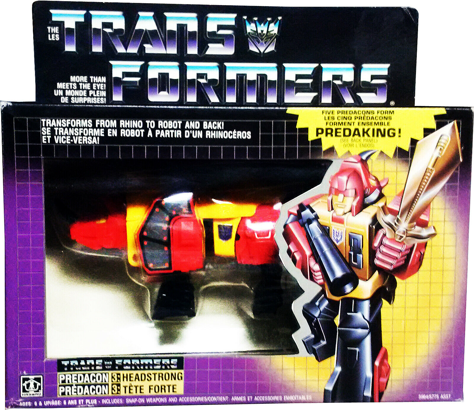 Transformers Prossoacon 3  Headstrong, Takara, Vintage G1 1986, Near MISB, AFA IT