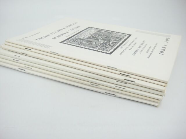 John A Fox Stamp Auction Catalogs Lot Of 6 Us Foreign Covers Gems Of Philately Ebay