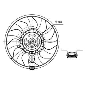 Lüfter Motorkühlung NRF 47418