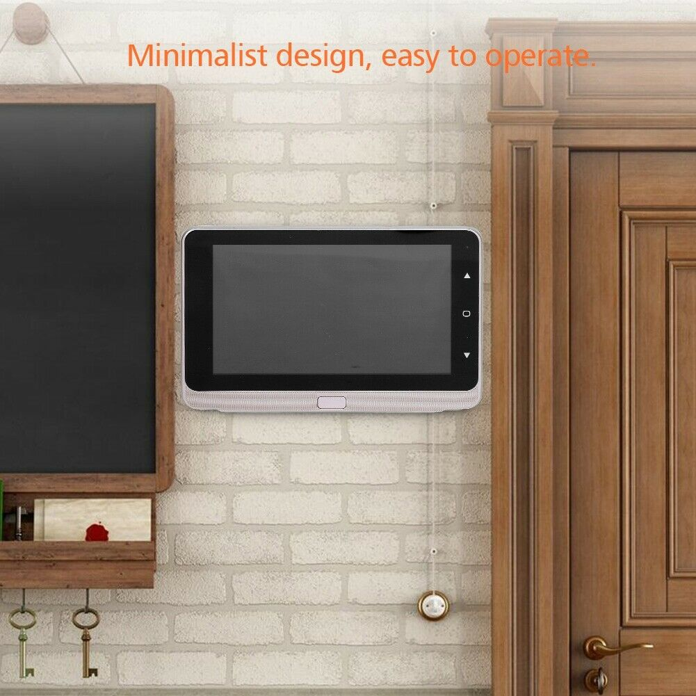 720P Video Portero OLED 5  Intercomunicador de Puerta Timbre de Cámara IR Visión