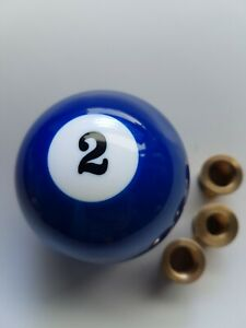 blue-number-2-two-pool-ball-gear-knob-shift-stick-universal