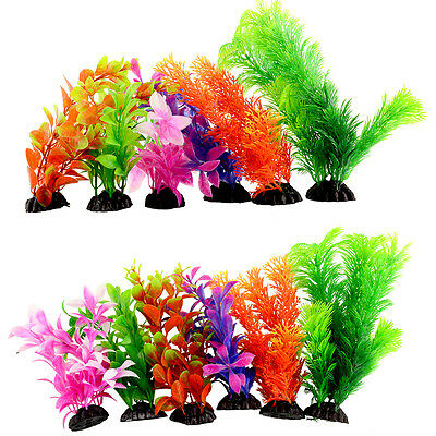 Plastic Grass Artificial Green Underwater Simulation Plants Fish Tank Aquarium