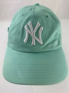 New-York-Yankees-Green-Adjustable-Women-039-s-Baseball-Ball-Cap-Hat