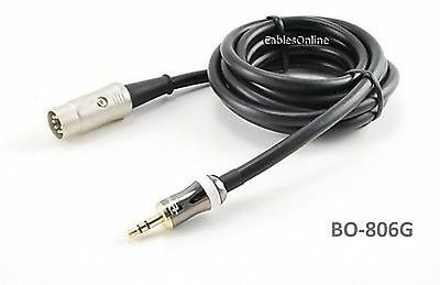 iPod//MP3//PC to BO Naim 15ft 3.5mm Stereo to Din-7 Quad System Cable
