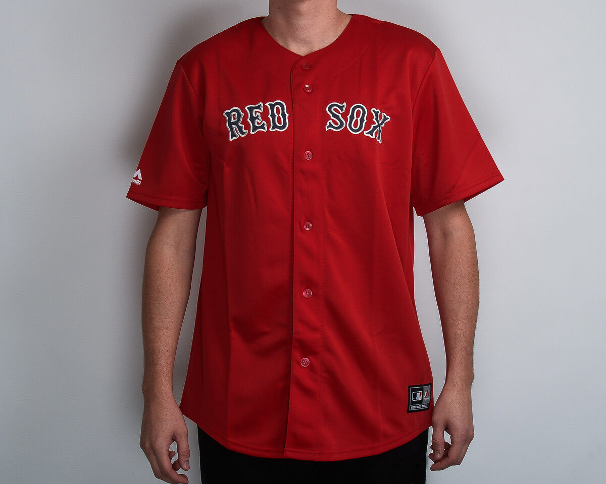 e3d02b271b5 Majestic MLB Boston Red Sox Replica Jersey NEW MBX2593RQ red navy white