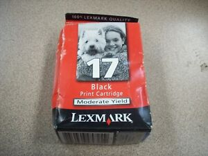 Lexmark-17-Black-ink-print-cartridge-refill-genuine-original-packaging-NEW
