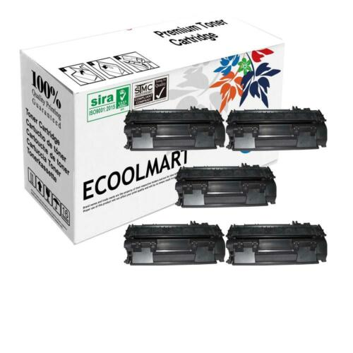 5 PK NEW CF280A 80A Black Laser Toner Cartridge For HP LaserJet Pro 400 M401dn