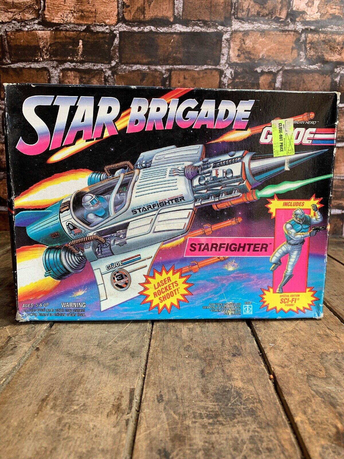 GI Joe Star Birgade Starfighter 1993 MIB SEALED   Original Hasbro Box ARAH