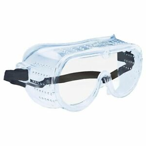 Safety Goggles Eye Face Protection Perforated Anti-fog Fit-over Clear Glasses