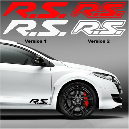 13 coloris X2 Autocollants decal carrosserie Stickers Renault Sport RS Sport