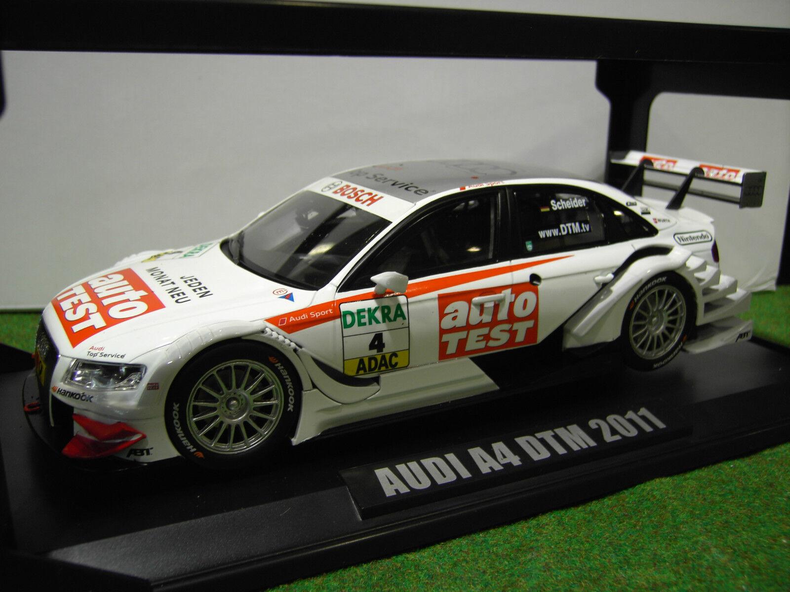 AUDI A4 DTM 2011  4i sport TEAM Scheider 1 18 NOREV 188337 voiture miniature