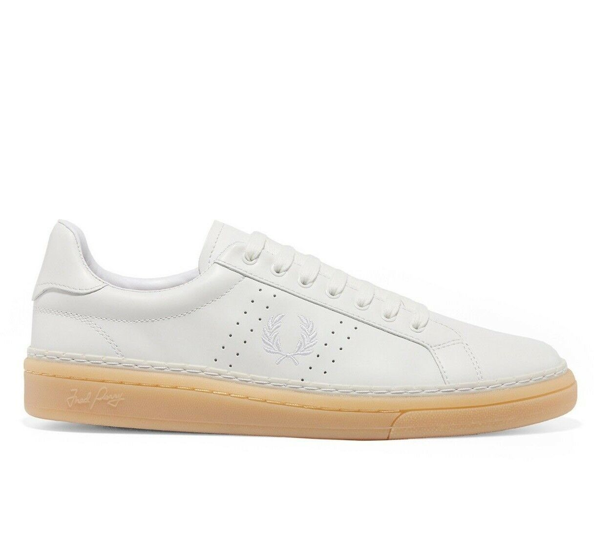 Frot Perry B721 High Shine Leather Men's Trainers schuhe B2085-100 - Weiß