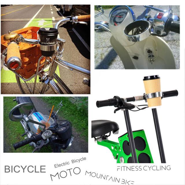Stainless Steel Motorcycle Bicycle Bike Handlebar Cup Holder