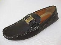 J's Awake Mens Shoes $45 Boston Brown Driver Loafer 9.5 M