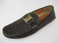 J's Awake Mens Shoes $45 Boston Brown Driver Loafer 9.5 M