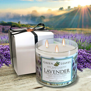 Lavender-Handmade-Hand-Poured-all-Natural-100-Soy-Candle-Candle-Gift